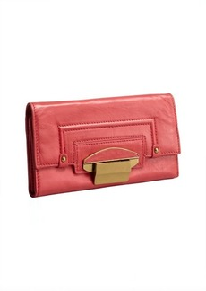 Kooba coral leather 'Turn Lock' wallet