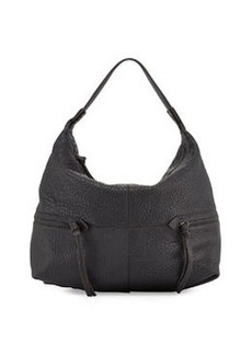 Kooba Crosby Leather Hobo Bag, Black