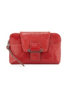 Kooba Emery Convertible Leather Clutch Bag, Raspberry