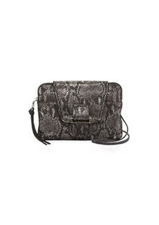 Kooba Emery Snake-Print Crossbody Bag, Gunmetal