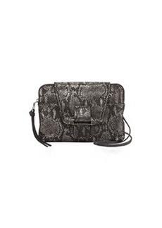 Kooba Emery Snake-Print Crossbody Bag, Gunmetal