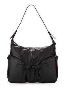 Kooba Farrah Knot-Detailed Shoulder Bag, Black