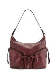 Kooba Farrah Leather Hobo Bag, Bordeaux