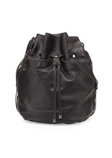 Kooba Frankie Drawstring Bucket Bag, Black