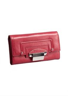 Kooba fuchsia leather 'Turn Lock' wallet