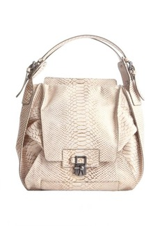 Kooba ivory snake embossed leather 'Valerie' shoulder bag