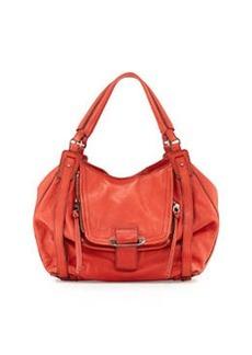 Kooba Jonnie Tumbled Leather Shoulder Bag, Scarlet