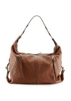 Kooba Lauren Pebbled Zip Hobo Bag, Earth