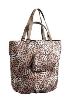 Kooba light brown leopard print nylon 'Audra' reversible tote