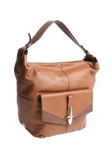 Kooba luggage brown leather 'Bedford' flap pocket shoulder bag
