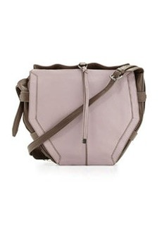 Kooba Lynn Bicolor Leather Crossbody Bag, Lilac/Brown