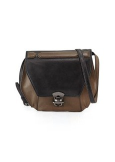 Kooba Marie Hexagon Colorblock Leather Crossbody Bag, Black/Brown