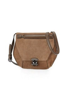 Kooba Marie Hexagon Suede Crossbody Bag, Black/Brown