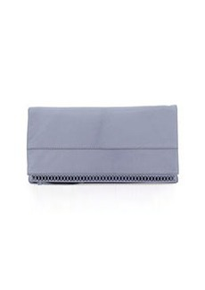 Kooba Marilyn Leather Fold-Over Clutch Bag, Tropical Blue