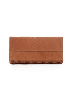 Kooba Marilyn Leather Fold-Over Clutch, Earth