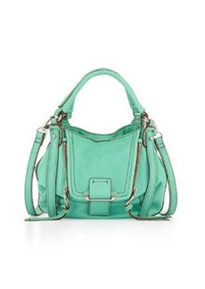 Kooba Mini Jonnie Leather Crossbody Bag, Jade