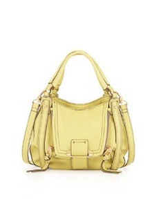 Kooba Mini Jonnie Leather Crossbody Bag, Lemon Yellow