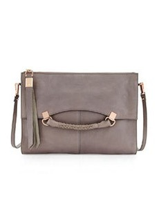 Kooba Nora Leather Crossbody Bag, Cement Gray