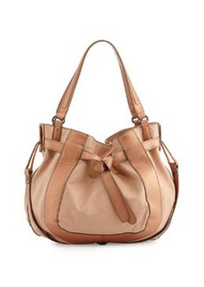 Kooba Parker Leather Hobo Bag, Nude/Bronze