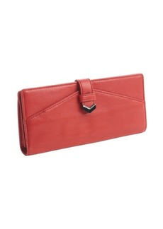 Kooba red leather fold-open continental wallet
