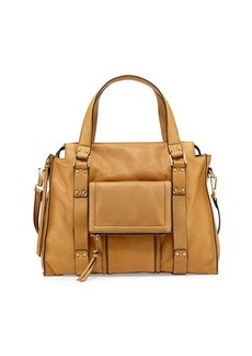 Kooba Rhodes Grained Leather Satchel Bag