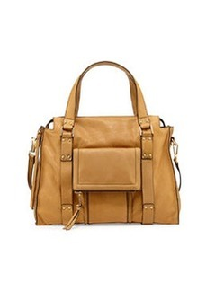 Kooba Rhodes Grained Leather Satchel Bag, Camel