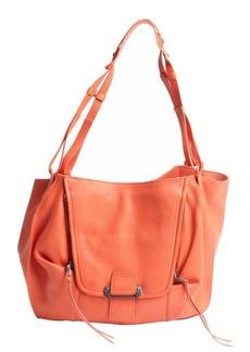 Kooba tangerine leather 'Zoey' shoulder bag