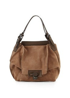 Kooba Valerie Suede Combo Hobo Bag, Taupe