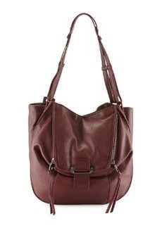 Kooba Zoey Slouchy Pebbled Leather Tote Bag, Bordeaux