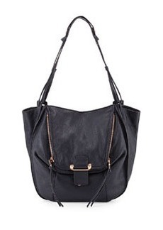 Kooba Zoey Slouchy Pebbled Leather Tote Bag, Midnight Blue