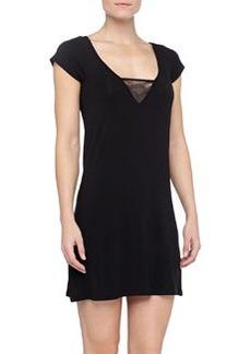 La Perla Camelia Short-Sleeve Jersey Gown