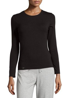 La Perla Crewneck Long-Sleeve Tee
