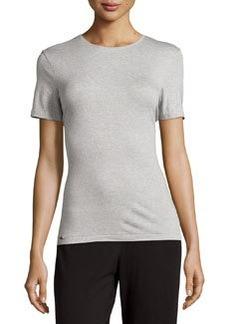 La Perla Crewneck Short-Sleeve Tee, Gray