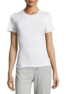 La Perla Crewneck Short-Sleeve Tee, White
