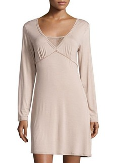 La Perla Lily Lace-Trim Sleepshirt