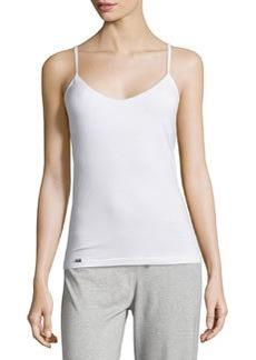 La Perla Scoop-Neck Camisole w/ Shelf Bra, White