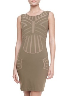 La Perla Sleeveless Mesh-Panel Coverup Dress