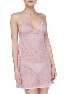 La Perla Sophia Scroll Mesh Lace Chemise, Rose