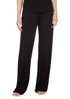 La Perla Studio Antoinette Stretch-Knit Wide-Leg Jersey Pants, Black