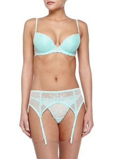 La Perla Studio Diana Embroidered Garter Belt, Mint