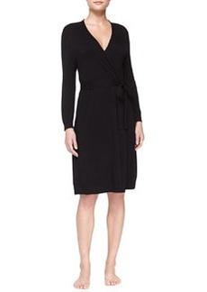 La Perla Studio Jasmine Belted Robe, Black