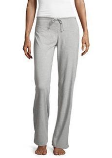 La Perla Wide-Leg Drawstring Pants, Gray