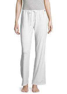 La Perla Wide-Leg Drawstring Pants, White
