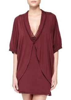 Pizzo Short-Sleeve Coverup Robe   Pizzo Short-Sleeve Coverup Robe