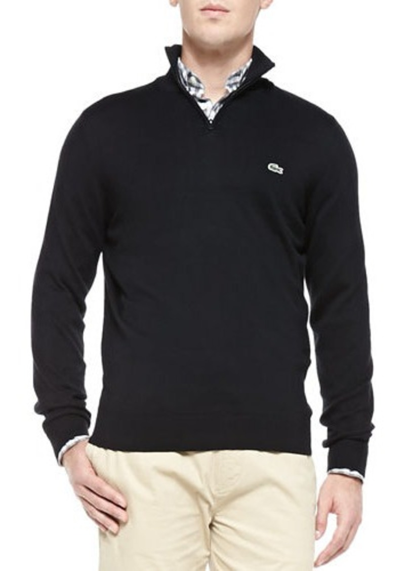 lacoste lacoste half zip knit sweater black sweaters shop it to me. Black Bedroom Furniture Sets. Home Design Ideas