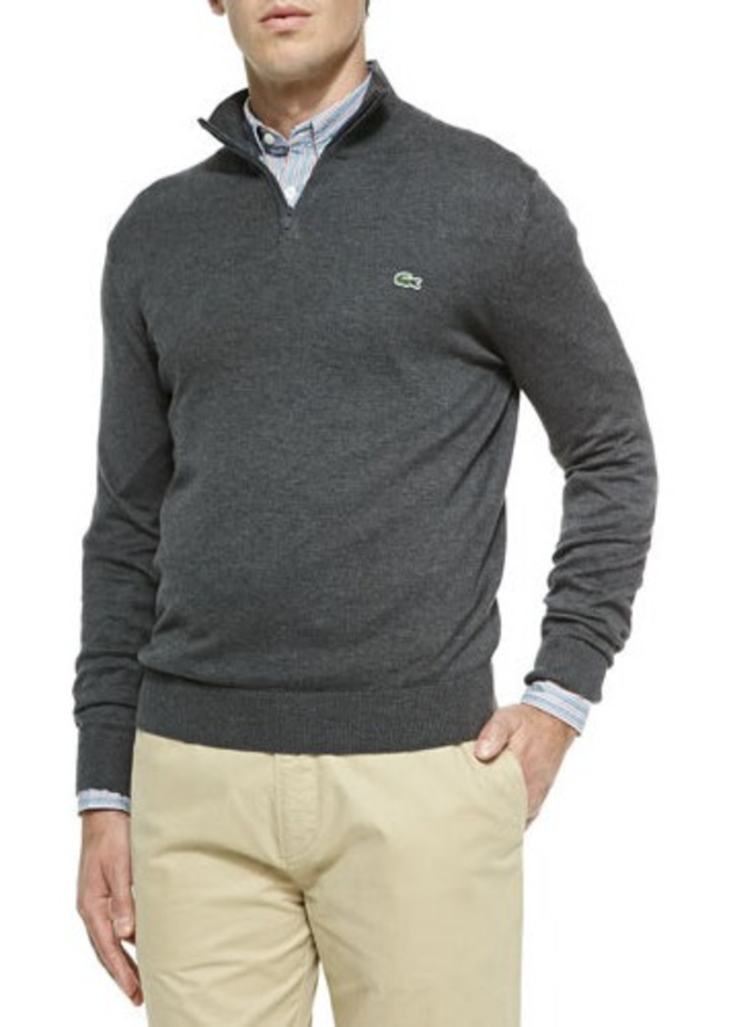lacoste lacoste half zip knit sweater gray sweaters shop it to me. Black Bedroom Furniture Sets. Home Design Ideas