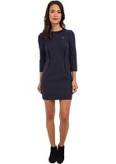 Lacoste L!VE 3/4 Sleeve Rib Collar Shift Dress