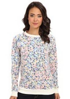 Lacoste L!VE Long Sleeve Pixelated Floral Print Sweatshirt