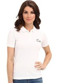 Lacoste L!VE Short Sleeve Pique Beaded Winking Croc Polo