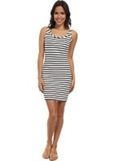 Lacoste L!ve Sleeveless Stripe Bodycon Pique Tank Dress